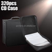 New Portable 320 Capacity CD DVD Media Storage Holder Carry Bag Case Durable Black