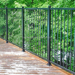 two- rail aluminum metal fence,panel fence,used metal fence post