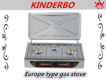 3 burner gas stove stainless steel top built in gas hob gas cooking range