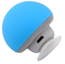 Mini Novelty Mushroom Waterproof Wireless Bluetooth Speakers 2015 With Silicon Suction Cup