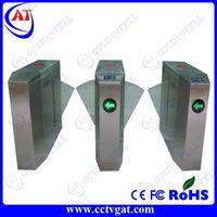 Waist high LED direct factory price glass turnstiles smart card door pedestrian barrier gate turnstile access control