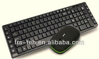 Combo mini rechargeable wireless mouse and keyboard for pc