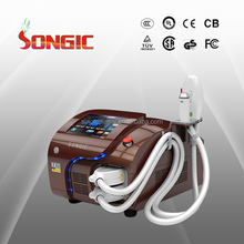 CE approved laser machine two handles RF+HR IPL hair removal machine