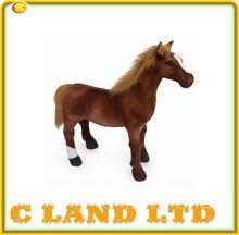 20 inch lifelike horse Race horse figurines plush animal toys