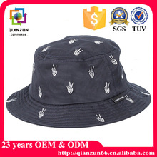 Quality cheap wholesale fashion embroidery patch plain custom bucket hat with woven label