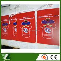 decorative textil flags dye sublimation sports felt pennant