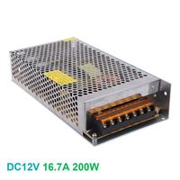 Led Strip Display Billboard Voltage Transformer 16.7A 200W Dimmable LED Driver Switch Power Supply AC 110V/220V to DC 12V