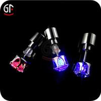 Wholesale Party Decoration Blinking Led Light Plastic Stud Earrings