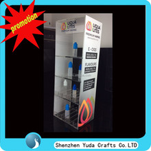 Stand floor promotional transparent e-juice display cabinets, acrylic e-liquid display case
