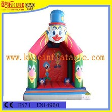 KULE inflatable funny clown painting bouncy for kids