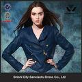 ducati da áo khoác bán buôn 2015 mới mùa xuân phụ nữ thời trang màu xanh hải quân harley áo khoác da cho phụ nữ varsity jacket máy bay ném bom