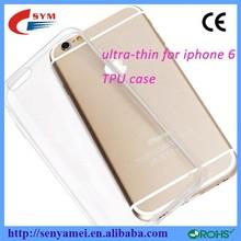 0.3mm 2015 transparent clear tpu case for iphone 6 case, ultra thin Transparent TPU Mobile Phone Case for apple iphone 6 32gb