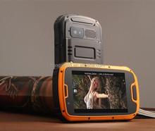 Vsspeed S09 Orange, Rugged Waterproof, Dustproof, Shockproof Phone with Walkie Talkie Function, GPS + AGPS, Android 4.2, MTK6589