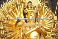 Gold leaf 22K and 23.75K covered buddha