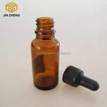 Glass round bottle of essential oil / 20ml Essential oil bottle with droppers and caps