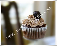 Waterproof and greaseproof white color paper cup cake with 1000pcs per packing