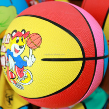 Durable hot sell custom printing mini rubber basketball