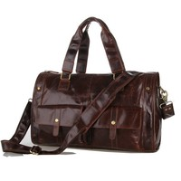 7213C Genuine Leather Men's Coffee Shoulder Messenger Bag Cross Body Purse Hot Sell