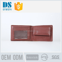 2015 Hot Sale hand made simple funky cow leather wallet