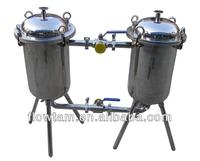 sanitary food grade stainless steel oil duplex filter