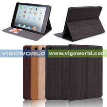 Wood pattern tablet case for iPad mini case/cover