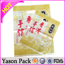 Yason masala chai packing three side bags wicketted bag with paper card anti-slip eva ground mats