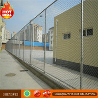 security galvanized and pvc coated chain link fence weight