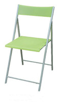 Plastic Backrest Folding Chair with Metal Frame