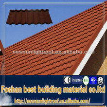 High quality light weight coated metal roof tile imitation roof tiles/1340*420mm corrugated roofing sheets