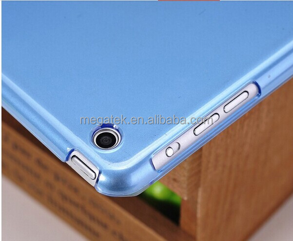 Tablet case cover transparent clear smart cover back PC case for ipad mini