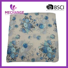 2015 fashion design printed beautiful butterfly scarf for girl six color 100% polyester knit scarf
