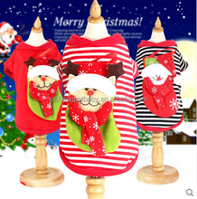 Wholesale hot style christmas dogs clothing cheap christmas clothes fashion christmas cloth for sale