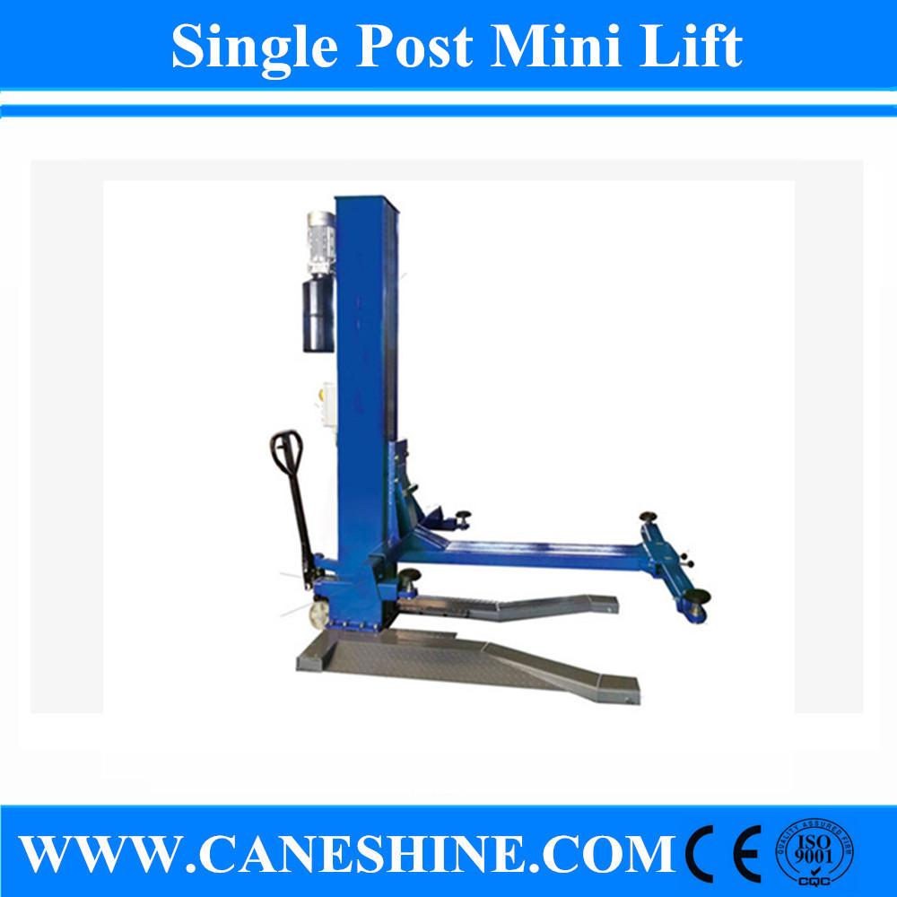 Single Hydraulic Automotive Lifts : Caneshine hydraulic single post mini lift cs buy