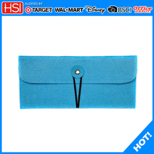 wholesale BCSI audit custom fancy felt pencil case for teenagers