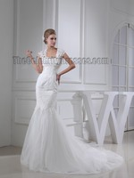 Celebrity Inspired Professional China Manufacturer Lace Wedding Dresses With Cap Sleeves