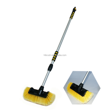 2015 new design soft bristle car wash brush with rinse function