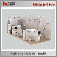 Aluminum mental spring pop up display wall portable trade show backdrop stand
