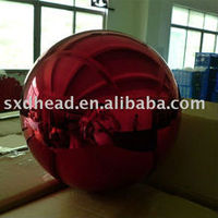 Large Red Color Garden Decorative Ball