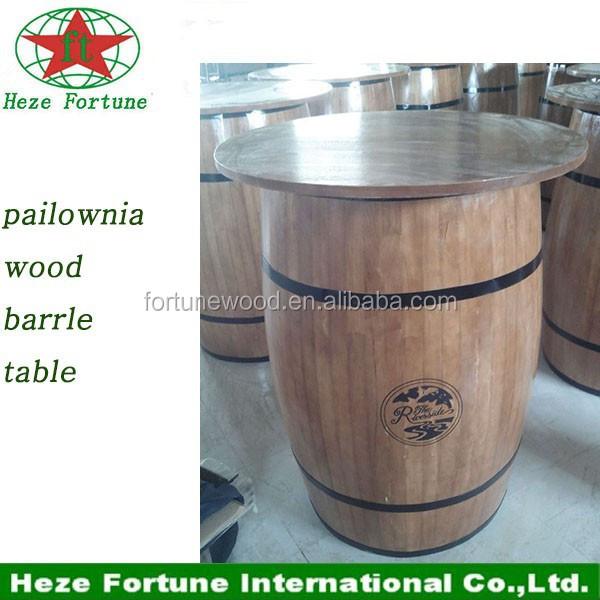 forme de tonneau en bois bar de table bar meubles table de bar table en bois id du produit. Black Bedroom Furniture Sets. Home Design Ideas