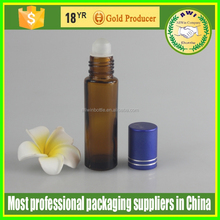 5ml glass roll on bottle glass or stainless steel material roll ball