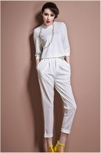 women hot sell suite top and pant suite