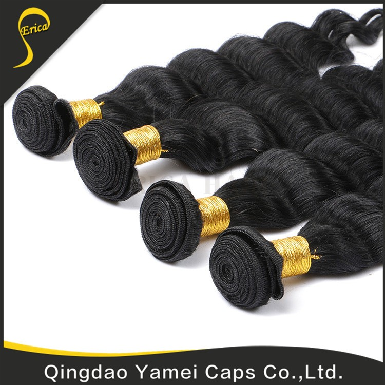 Good Quality In Ali Indian Naturally Curly Weave Hair