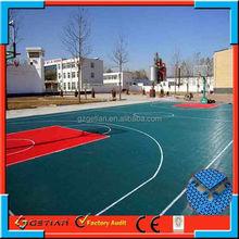 indoor/outdoor price court floor basket ball hot sell