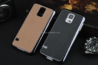 For samsung galaxy S5 carbon fiber electroplating skin cell phone case