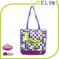 Custom full color laminated printed non woven shopping tote bag/laminated non woven tote bag