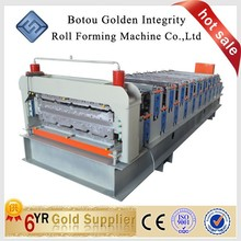 Low Price galvanized steel stud Double deck Steel Glazed Type Tile roll forming Machines