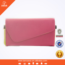 Hot sell fashion design universal PVC cell phone cover wallet case for I phone4 5 6