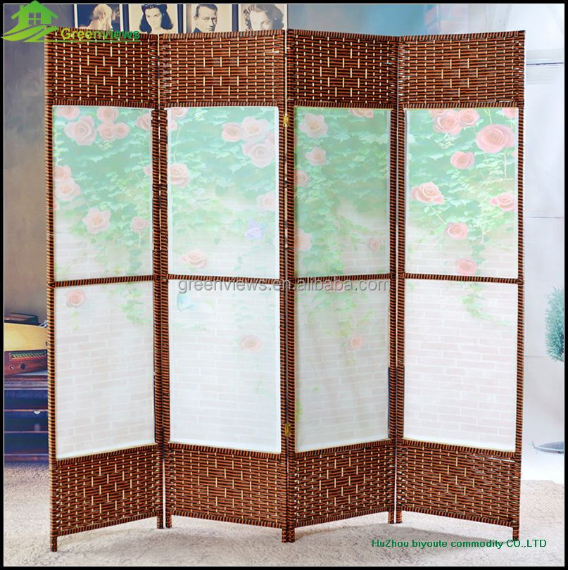 Canvas printing wood folding partition screen hanging - Screens for doors that hang ...