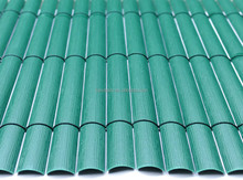 19mm simple face PVC fence Green EMBOSSED