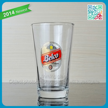 High quality glass cup non alcoholic malt beverage with custom logo